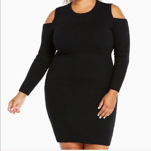 New! Torrid plus size 00 M black sweater dress NWT
